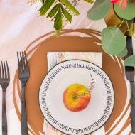 an overhead photo of my finished DIY placemats by sugar and cloth