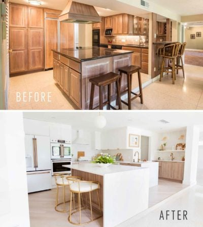 Our kitchen renovation was at the very top of my to-do list when we bought this fixer upper and I'm so excited to share the final kitchen before and after photos!! Sugar & Cloth Casa: Our Renovation Kitchen Before & After by top Houston lifestyle blogger Ashley Rose of Sugar and Cloth #kitchen #decor #design #makeover