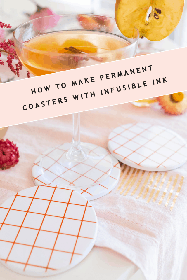 text image as a header for diy coasters made with infusible ink by sugar and cloth