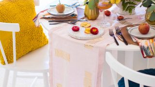 DIY Table Runner Idea: How to Make a Table Runner Iron-On + Download!