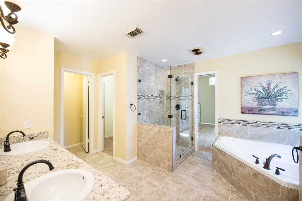 photo of our old shower before our bathroom remodel by sugar and cloth