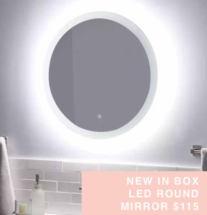 led round mirror