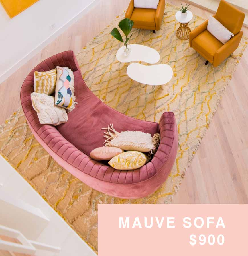 mauve sofa for sale houston