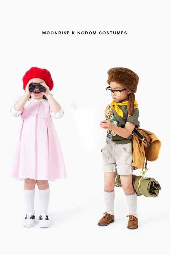 Moonrise Kingdom DIY character costumes for boys and girls