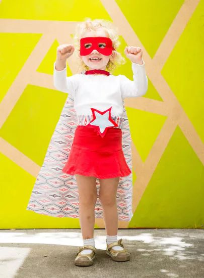 DIY superhero halloween costume for boys and girls