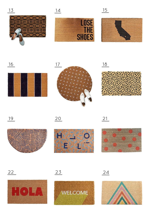 36 Modern Budget Door Mats We Re Loving Sugar Cloth
