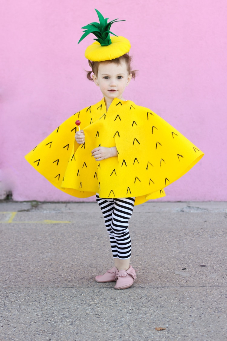 DIY pineapple costume for kids