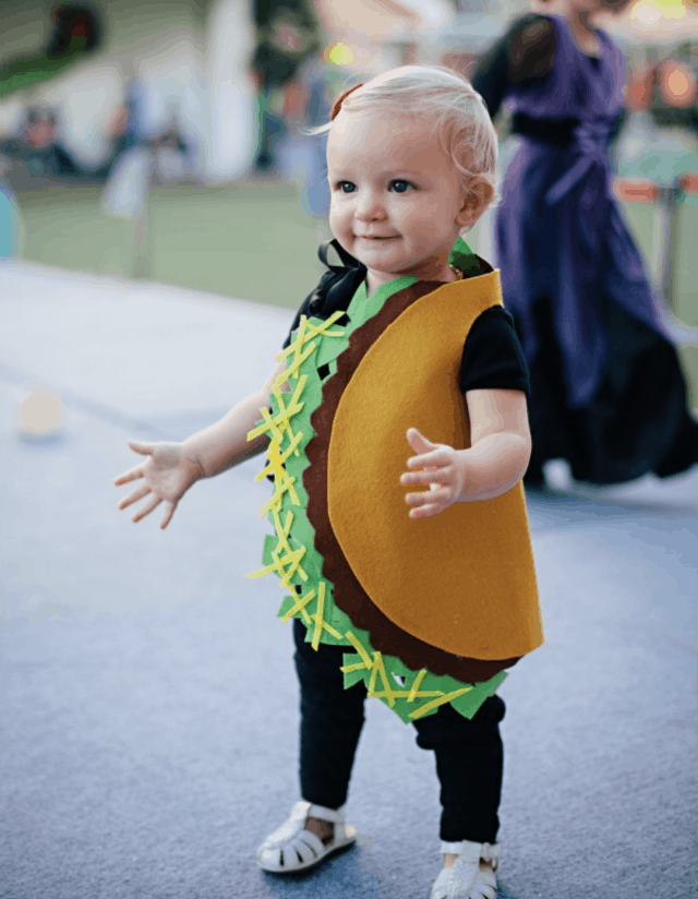 DIY Felt Taco Halloween Costume for Toddlers