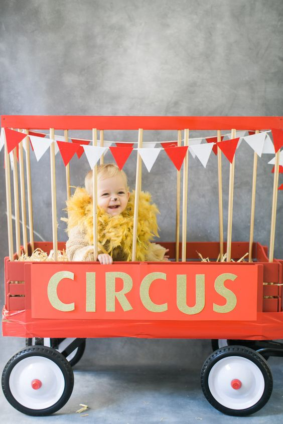 Circus lion diy halloween costume for toddler boys and girls
