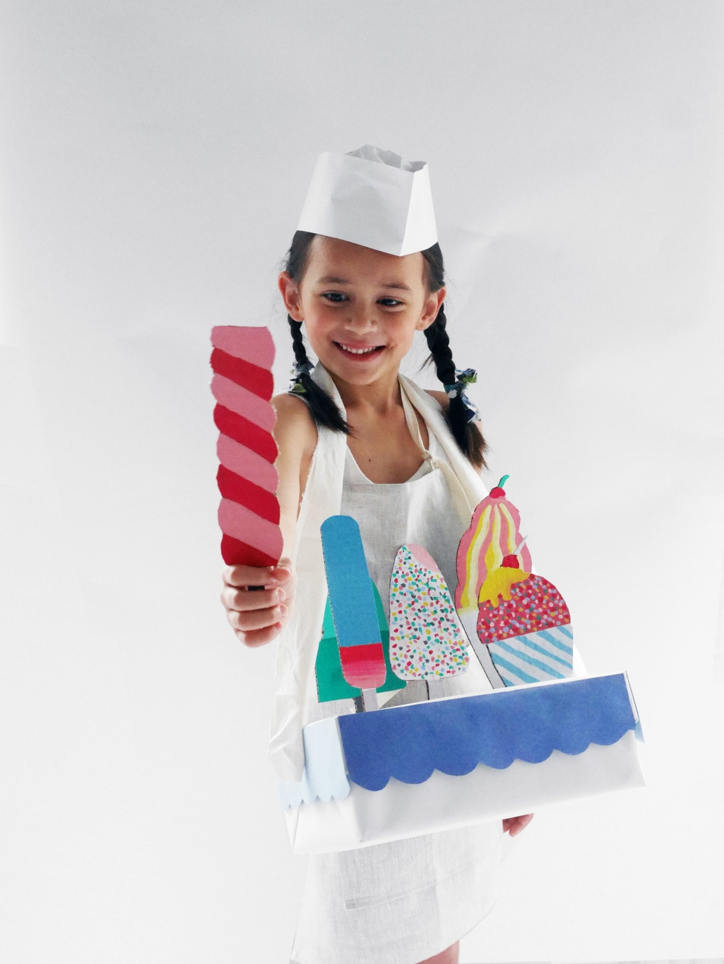 Ice cream vendor DIY Halloween costume for boys and girls