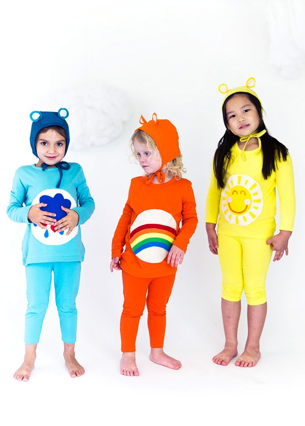 DIY Care bears halloween costume for kids