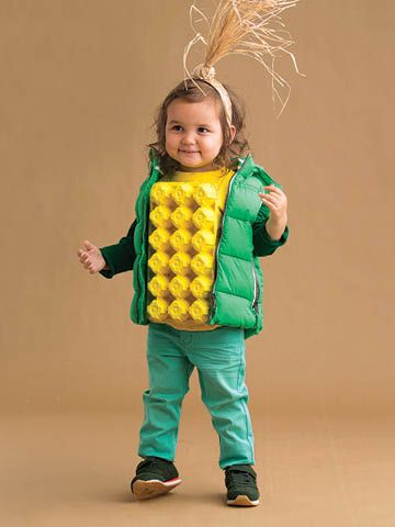DIY Corn costume for boys and girls