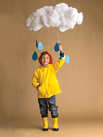 DIY Rain cloud halloween costume for kids
