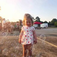 photo of a girl with bubbles