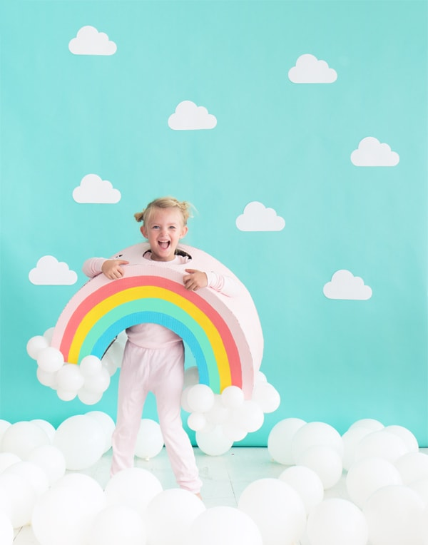 Rainbow DIY kids Halloween costume