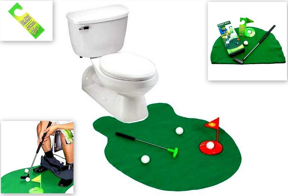 photo of on the potty put put game white elephant gift idea