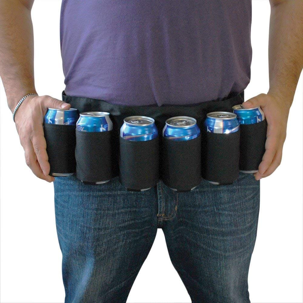 photo of beer can or soda tool belt funny white elephant gift