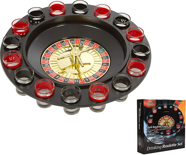photo of a drinking roulette game