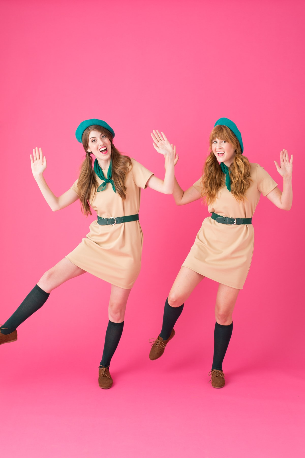 Two women in DIY Couples costume: Troop Beverly Hills