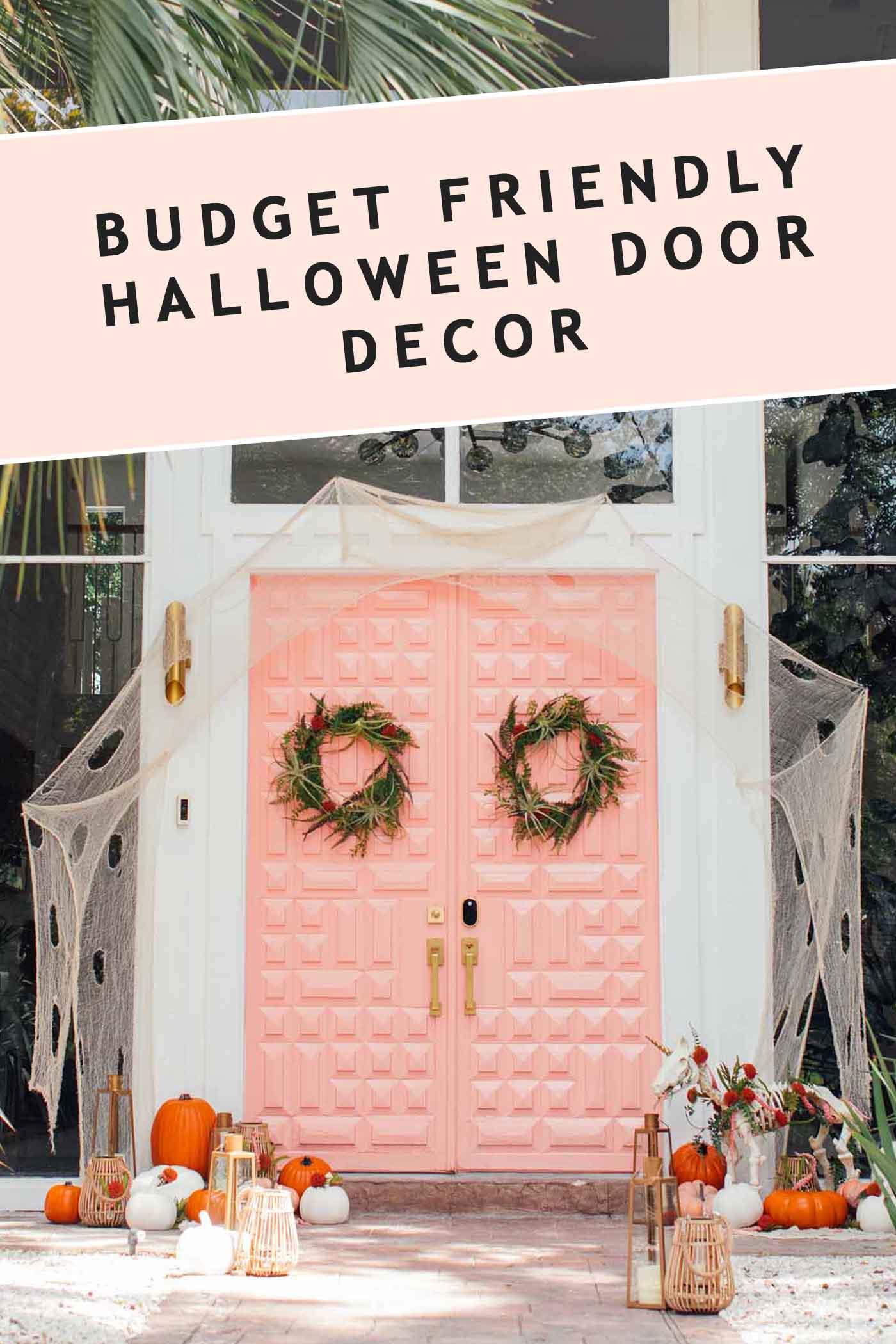 Halloween Door Decor 3 Not So Spooky Front Door Decor Ideas