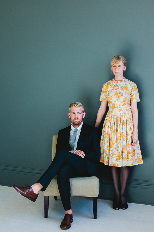 Man and Woman in DIY Couples costume: The Drapers from Mad Men