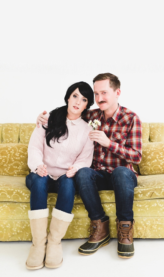 Man and Woman in DIY Couples costume: Lars and The Real Girl