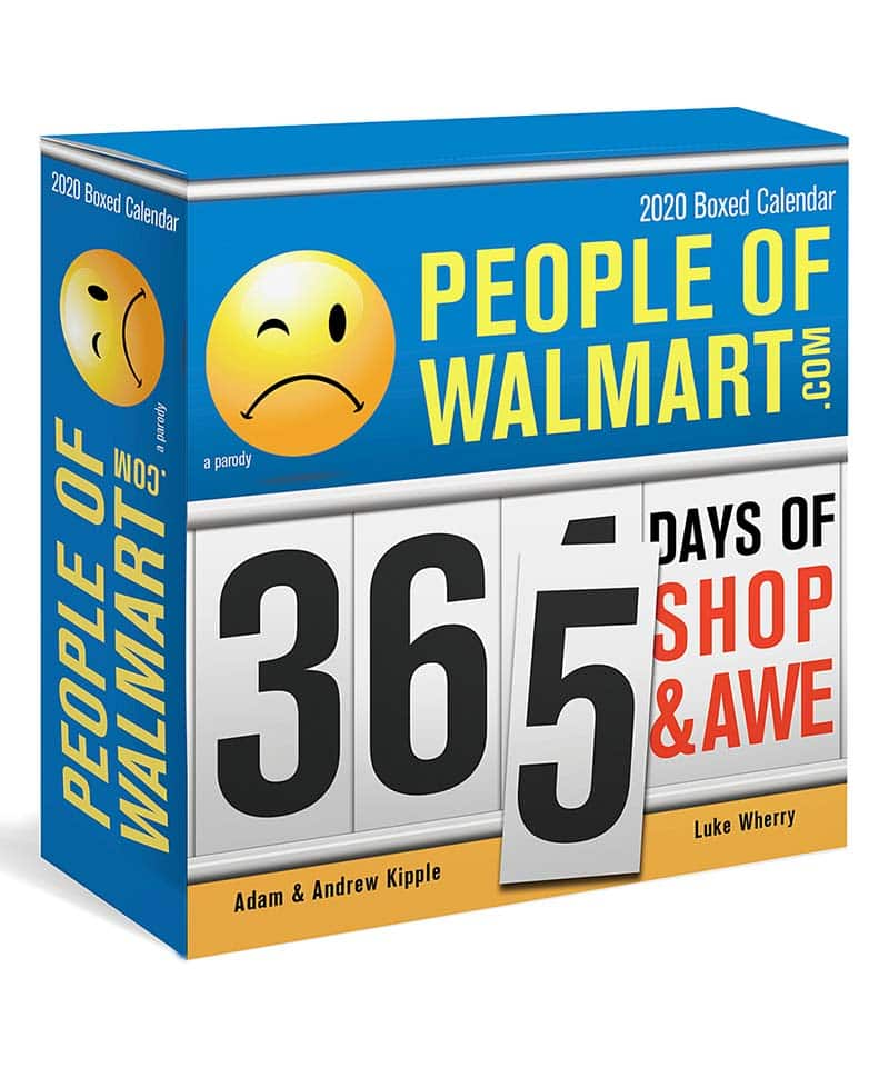 photo of people of Wal-mart boxed calendar funny white elephant gifts