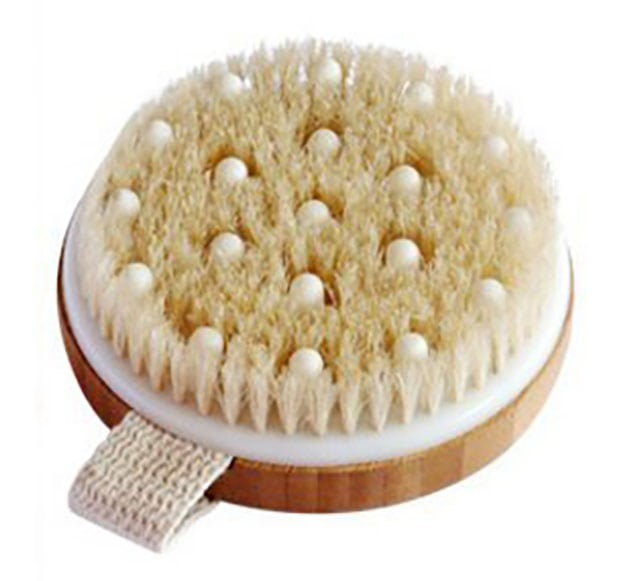 photo of a body brush for exfoliating