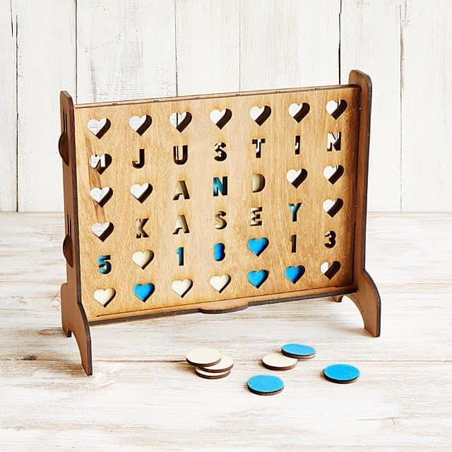 photo of custom checkers game set