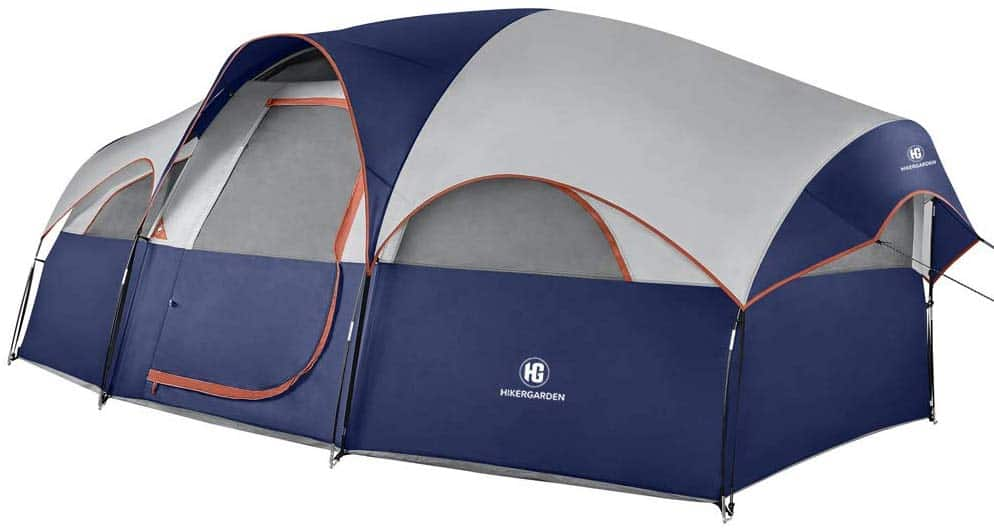 photo of 8 person outdoor sleeping tent