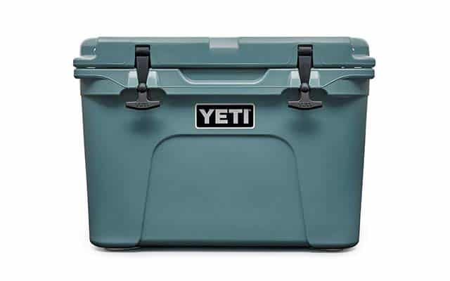 photo of large Yeti cooler in teal