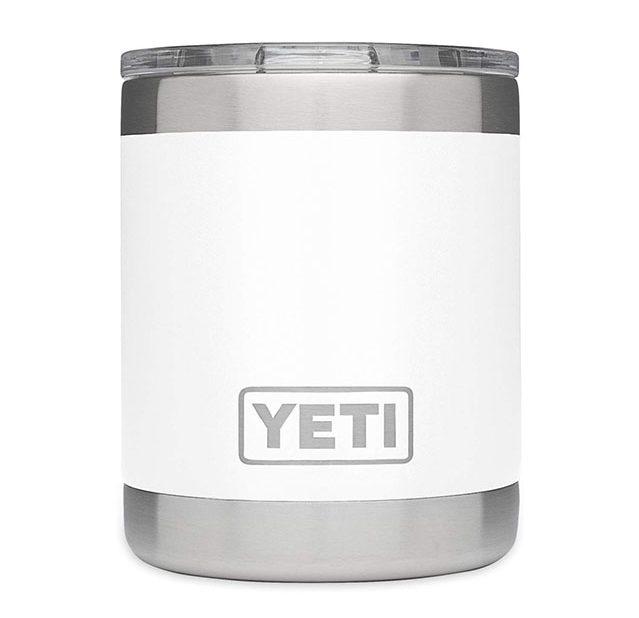 photo of a white yeti tumbler