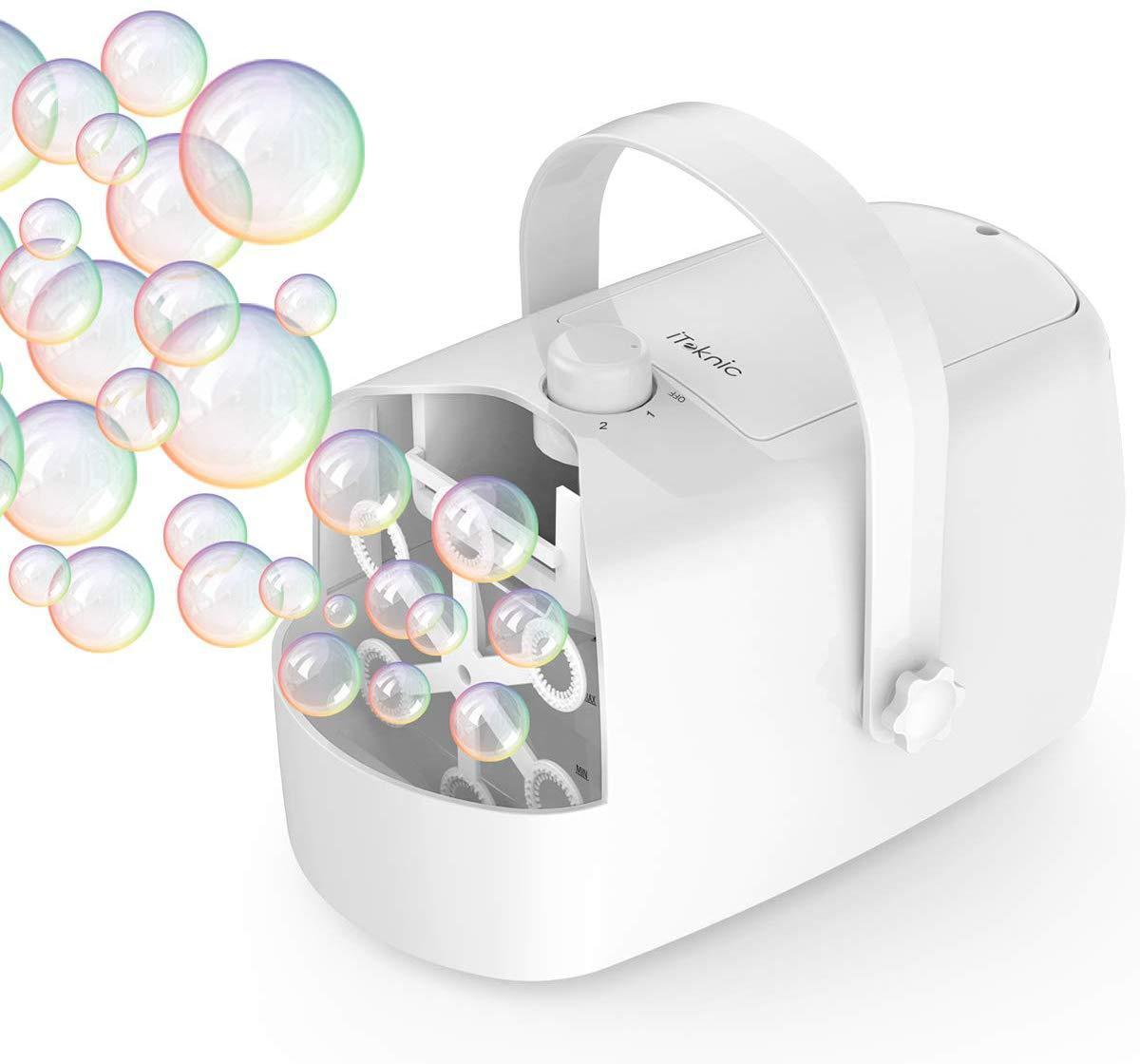 photo of bubble making machine