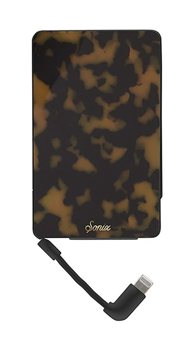 photo of a portable phone battery pack in tortoise shell