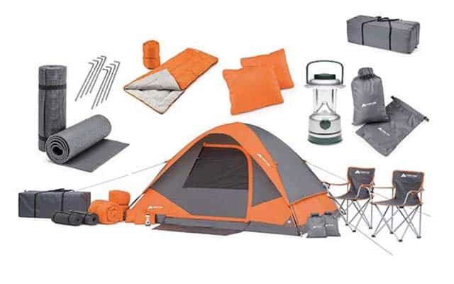 photo of full camping set for two