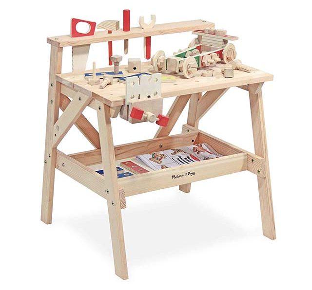 photo of kids wooden work bench