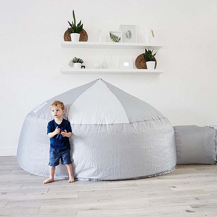 photo of kids inflatable air fort