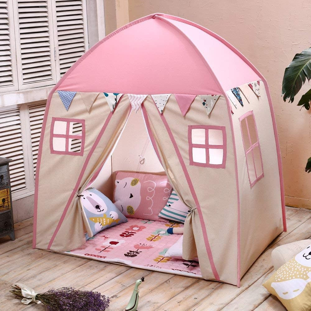 photo of an indoor house tent
