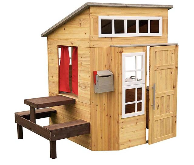 photo of a modern wooden play house for kids
