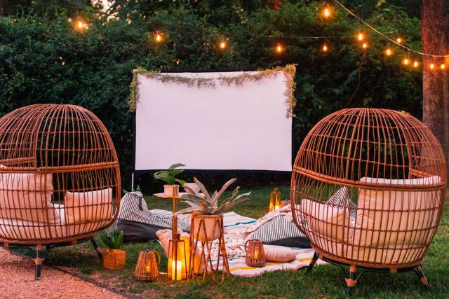 Prepping For Movies Easy Indoor Outdoor Movie Night Ideas