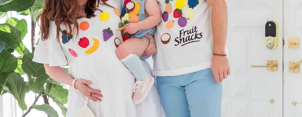 photo of a fruit snacks food costume idea for halloween