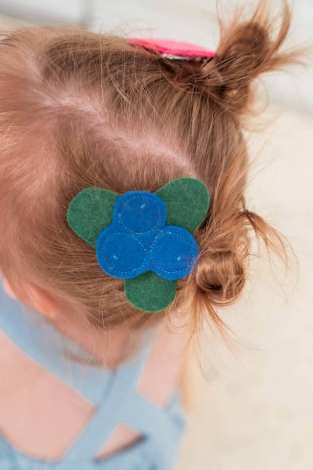 photo of fruit hair clips