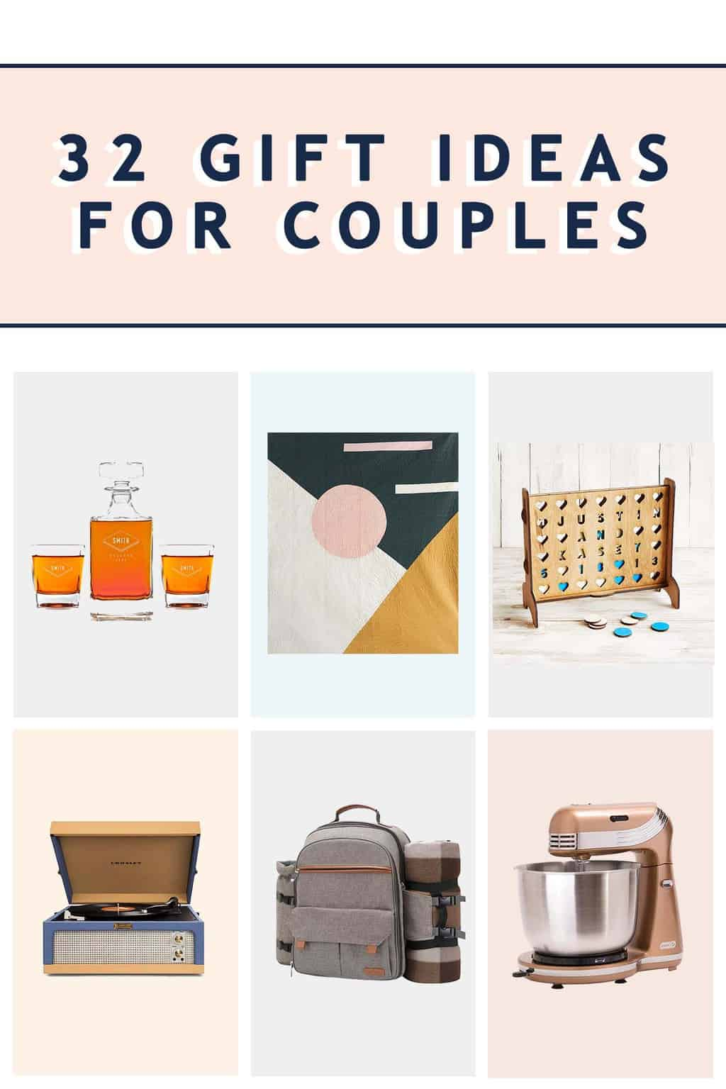 Gifts for Couples: 32 Gift Ideas for Couples by Sugar and Cloth - Header Image