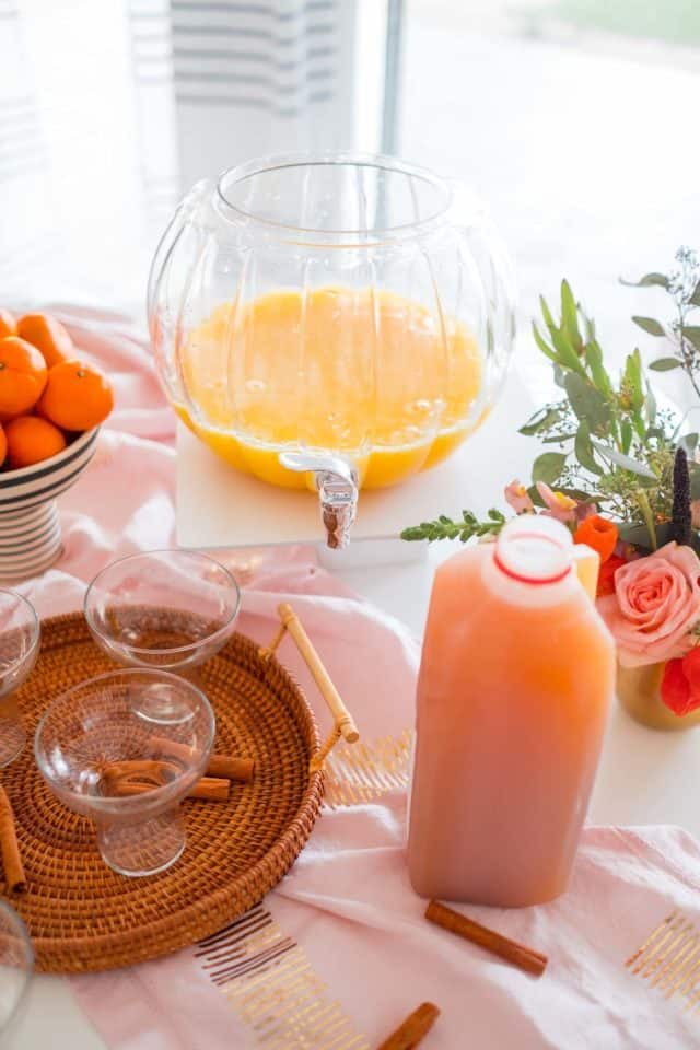 photo of the ingredients to make a thanksgiving punch