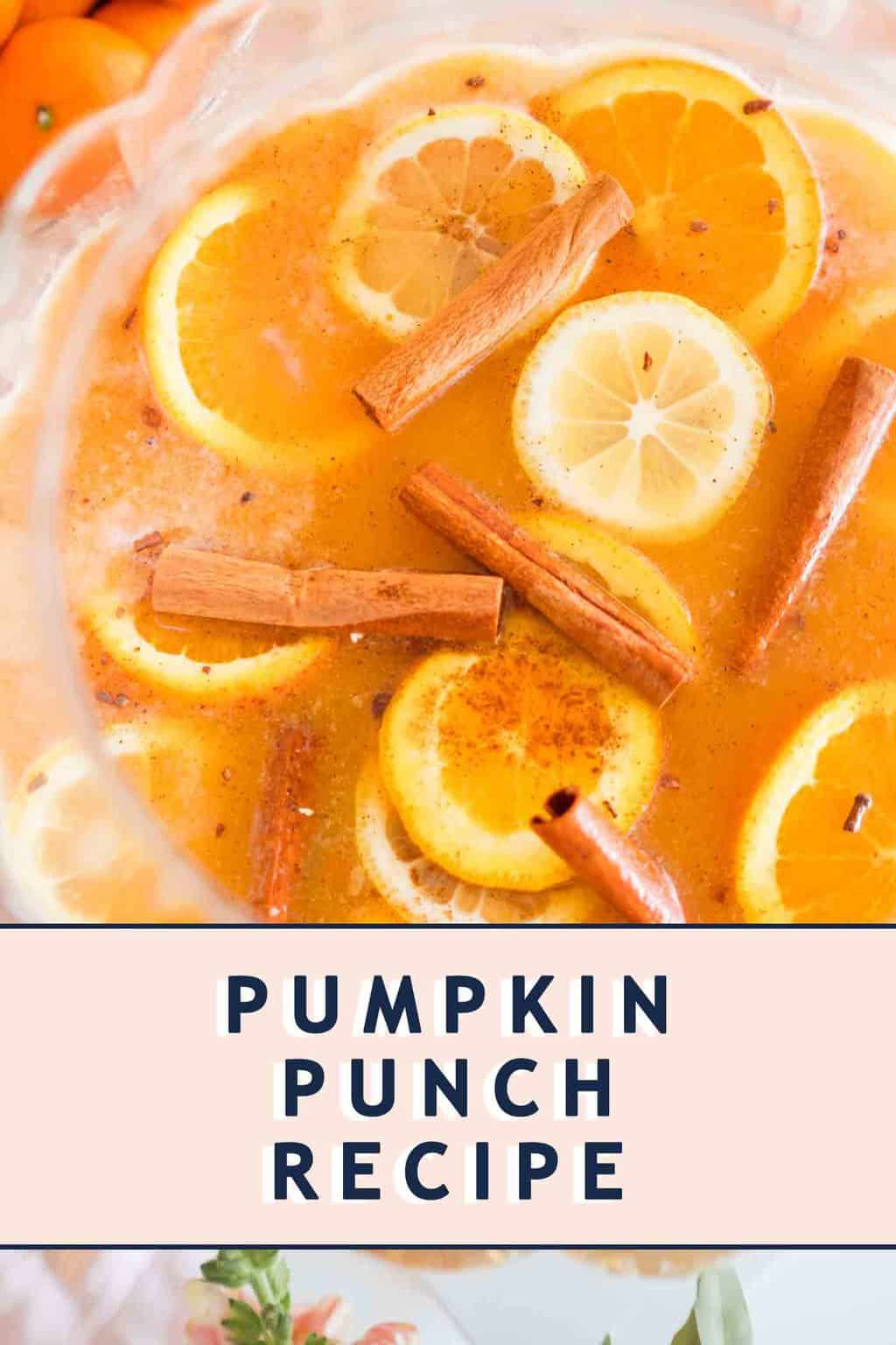 photo of pumpkin punch with text