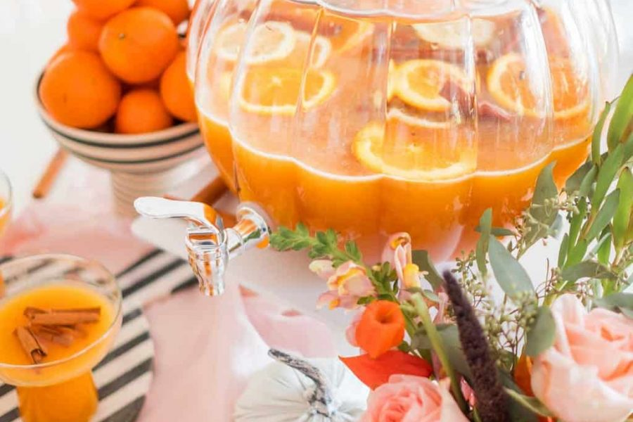 photo of a thanksgiving punch recipe