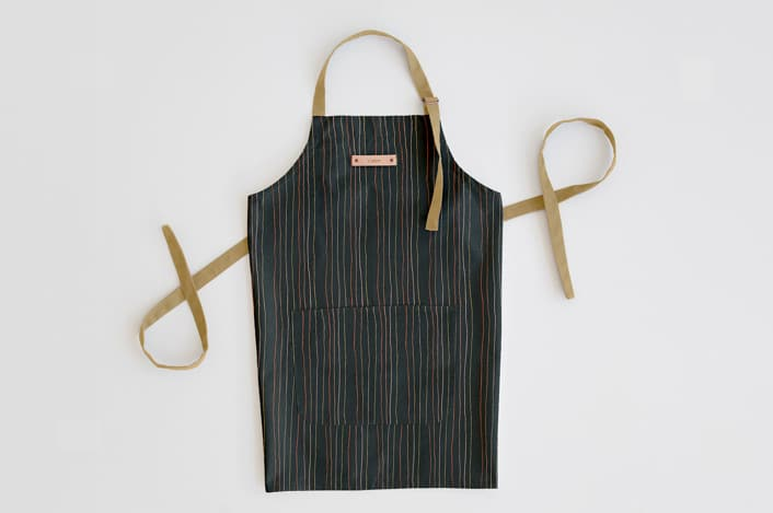photo of the personalized kitchen apron from Minted by top Houston lifestyle blogger Ashley Rose of Sugar & Cloth