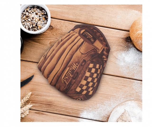 a baseball funny oven mitt gift idea