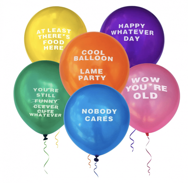 funny balloon gift set