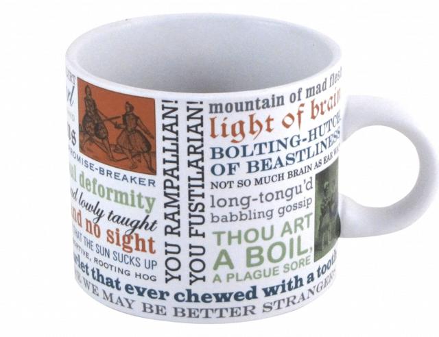 funny shakespearean insults coffee mug white elephant gift idea